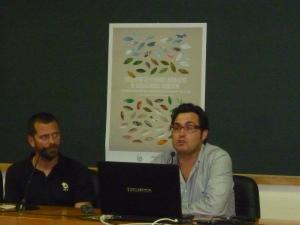 Fernando G. Brun (dcha.) durante su intervención